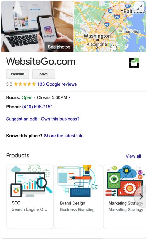 GMB-WEBSITE GO sidebar